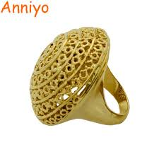 rings girl images Anniyo big ethiopian ring women gold color bride party rings girl jpg