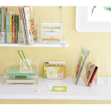 Clear Lucite Desk Clear Stackable Letter Tray The Container Store