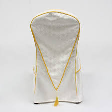 Used Wedding Chair Covers Best Selling 100 Polyester Jacquard White Used Wedding Chair