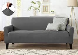 grey twill sofa slipcover amazon com home fashion designs form fit stretch stylish furniture