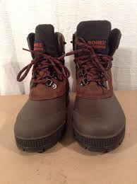 womens sorel boots in canada womens sorel boots 7 brown leather rubber kaufman canada
