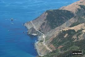 Big Sur Map Landslides California Geological Survey Caltrans Corridor