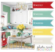 retro palette yellow on the walls white cabinets paint
