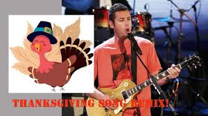adam sandler original snl thanksgiving song