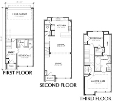 town house floor plans 3 story 3 bedroom townhouse floor plan for sale