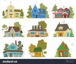 vector image set different cute cartoon stock vector 474266623