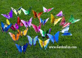 windy wings butterfly garden stakes set of 6 only 23 99 at