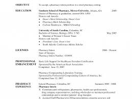 Impressive Objective For Resume Impressive Design Pharmacy Intern Resume 1 Pharmacy Intern Resume