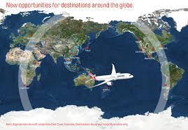 Jet Blue Route Map Qantas Boeing 787 Routes Sydney Chicago Australian Business
