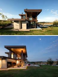 Outdoor Areas by This Rural Contemporary Home Is Designed To Take Advantage Of An