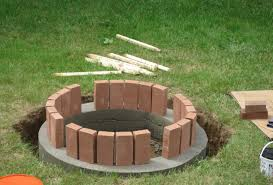 a backyard backyard contemporary how to build a fire pit out of old bricks