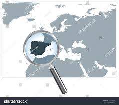 europe peninsulas map europe map loupe iberian peninsula gray stock vector 230048299