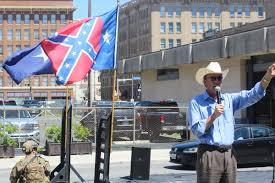Battle Flag Of The Confederacy Conflicting Rallies Converge In Travis Park Over Confederate