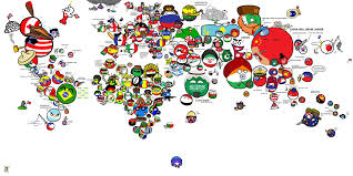 Map Of Thw World by Polandball Map Of The World 2016 Polandball