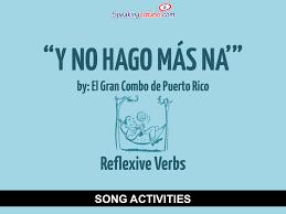 y no hago más na u0027 by el gran combo spanish song to practice