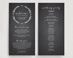 vintage wedding program template wedding program printable template printable program diy