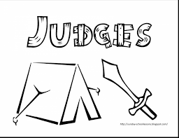 astounding book of judges sunday coloring pages with sunday