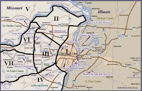 map st louis metro map metro st louis usa softball