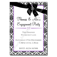 damask ribbon damask ribbon engagement invitation engagement party invitation