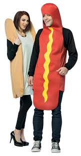 couples costume hot dog and bun couples costume costumes