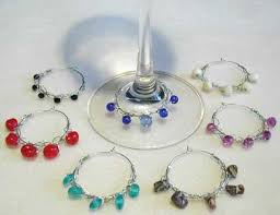 crocheted wine glass charms as seen on diy network yarn tomato