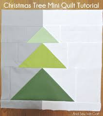 free pattern christmas tree mini quilt and sew we craft