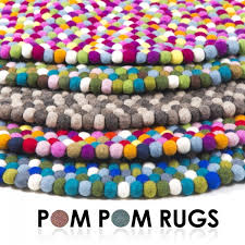 Circular Wool Rugs Uk Round Multi Coloured Felt Ball Rug Cult Uk
