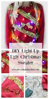 diy light up ugly christmas sweater the samantha show a