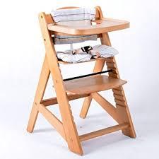 chaise haute en bois ajustable chaise bébé escalier chaise haute