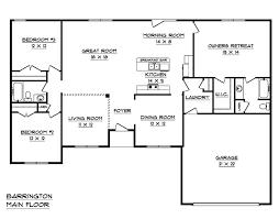 Barrington Floor Plan Barrington B House Plan Schumacher Homes