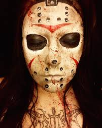 friday the 13th halloween makeup jason voorhees mask facepaint