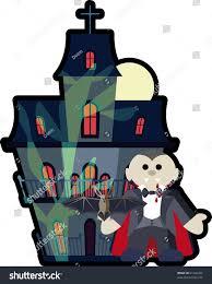 Halloween Haunted Houses Nyc by Halloween Haunted House Vampire Stock Vector 61342456 Shutterstock