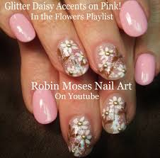 nail art tutorial spring daisy nail design diy easy prom nails