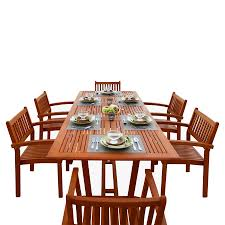 Wood Patio Dining Table by Shop Patio Dining Sets At Lowes Com