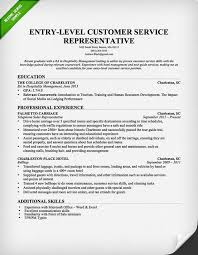 Resume Example Entry Level by Entry Level Customer Service Representative Resume Template Free