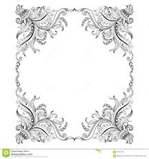 frame with drawing decorative ornaments stock vector image