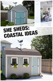 home depot front yard design this cute beachy she shed installed by the home depot was a