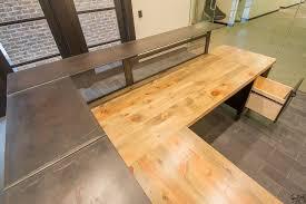 Custom Made Reception Desk Handmade Custom L Shaped Reception Desk Metal U0026 Wood Desk