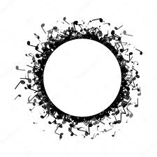 circle made out of music notes u2014 stock vector chrishall 107445382