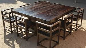 rustic square dining table fresh kitchen wonderful square wood dining table pertaining to