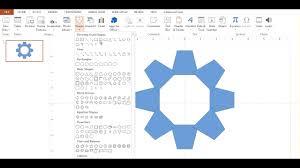 create a custom gear shape in powerpoint youtube create a custom gear shape in powerpoint