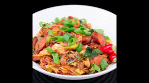 fried cabbage with smoked sausage youtube