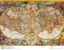 Antique World Map antique world map royalty free stock photography image 8073237
