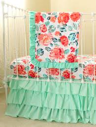 Coral And Mint Bedding Pixie Park Coral Baby Bedding Lottie Da Baby Baby Bedding
