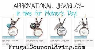 mothers day jewelry sale affirmational jewelry to 26 99 in time for s day