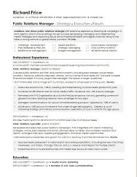 new resume format 2015 exles of false sle resume for a public relations manager monster com