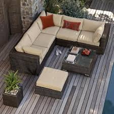 Outdoor Rattan Garden Furniture by All Weather Corner Outdoor Rattan Garden Furniture Sofa Set