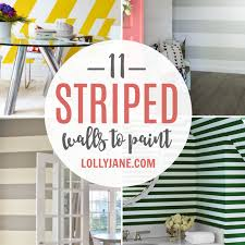 striped walls 11 diy striped walls roundup lolly jane
