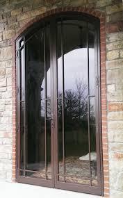 glass security doors round top secuity doors