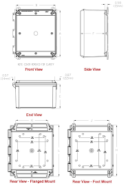 type 4x polycarbonate junction box solid and clear cover pcj